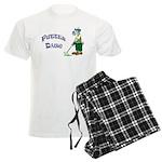 Golf Putter Dog Men's Light Pajamas