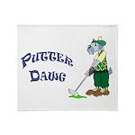 Golf Putter Dog Throw Blanket