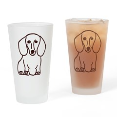Dachshund Drinking Glass