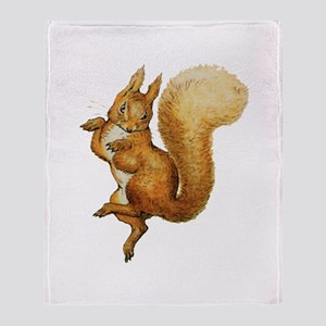 Squirrel Nutkin Throw Blanket