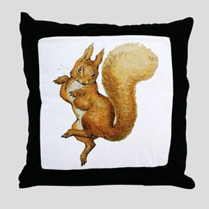 Squirrel Nutkin Throw Pillow