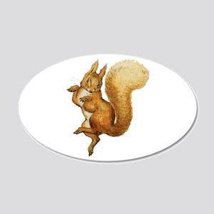 Squirrel Nutkin 20x12 Oval Wall Decal