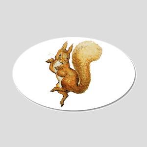 Squirrel Nutkin 20x12 Oval Wall Decal