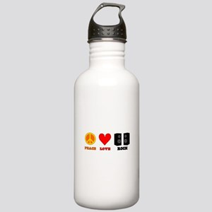 Peace Love Rock Stainless Water Bottle 1.0L