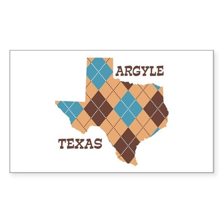 Argyle Texas Rectangle Sticker