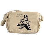 Belgian Malinois Silhouette Messenger Bag