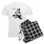 Belgian Malinois Silhouette Men's Light Pajamas