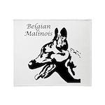 Belgian Malinois Silhouette Throw Blanket
