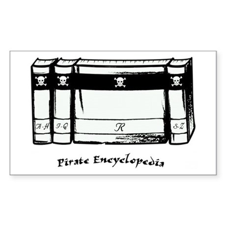 Pirate Encyclopedia Sticker (Rectangle)