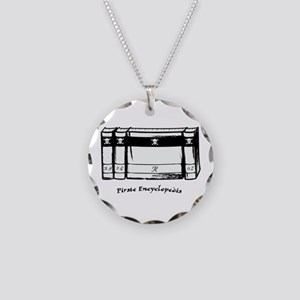 Pirate Encyclopedia Necklace Circle Charm