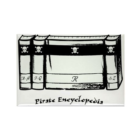 Pirate Encyclopedia Rectangle Magnet (100 pack)