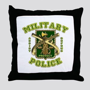 US Army Military Police Gold Throw Pillow