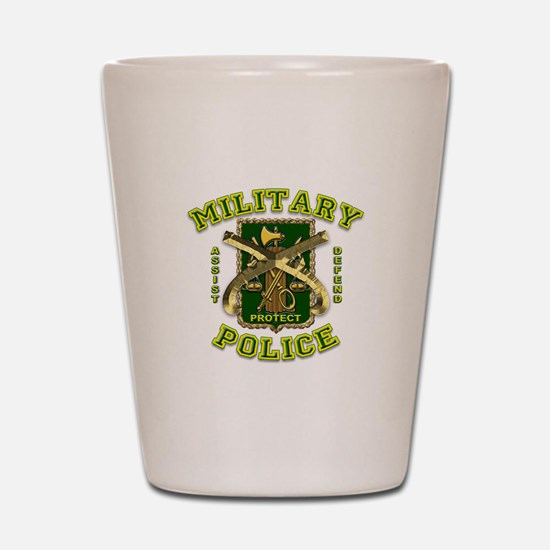 US Army Military Police Gold Shot Glass