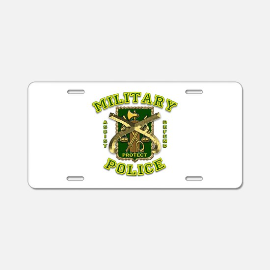 US Army Military Police Gold Aluminum License Plat