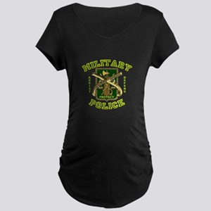 US Army Military Police Gold Maternity Dark T-Shir