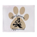 Belgian Malinois Approved Throw Blanket