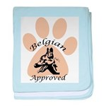 Belgian Malinois Approved baby blanket
