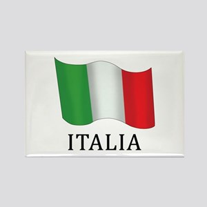 Italia Flag Rectangle Magnet