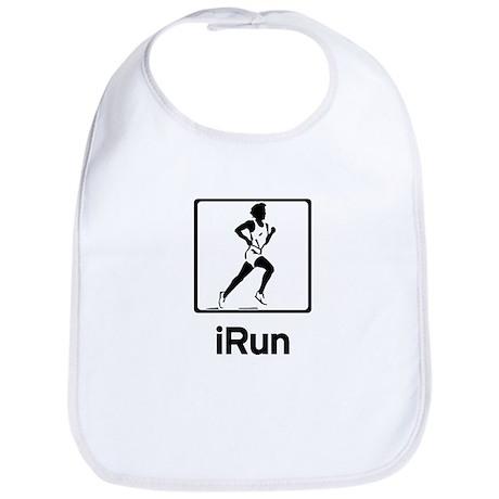 iRun - Women runner running Bib