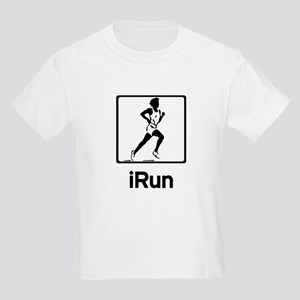 iRun - Women runner running Kids Light T-Shirt
