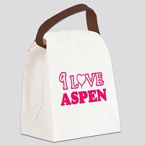 I Love Aspen Canvas Lunch Bag