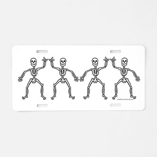 ILY SkelDance Aluminum License Plate
