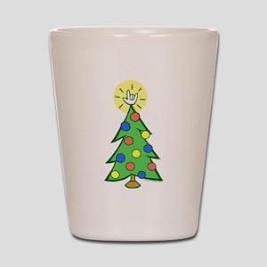 ILY Christmas Tree Shot Glass