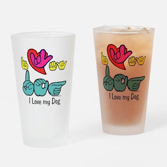 I-L-Y My Dog Drinking Glass