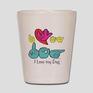 I-L-Y My Dog Shot Glass