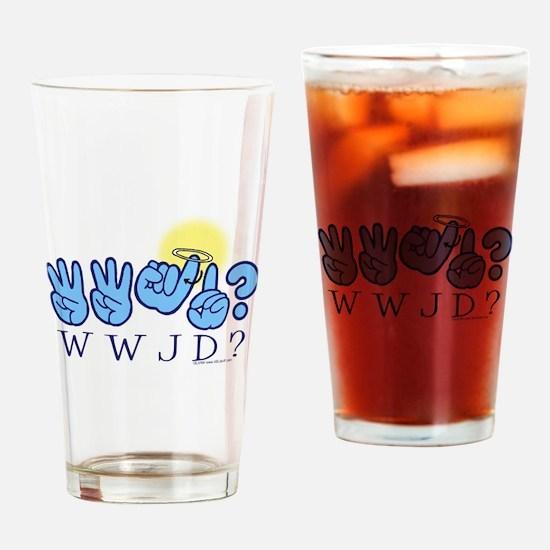 WWJD? Drinking Glass