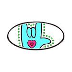 Aqua Bold Love Hand Patches