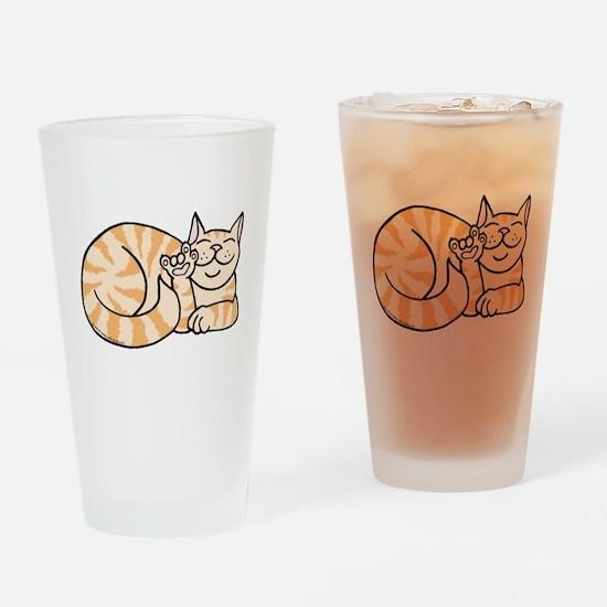 OrangeTabby ASL Kitty Drinking Glass