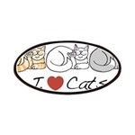 I Heart Cats Patches