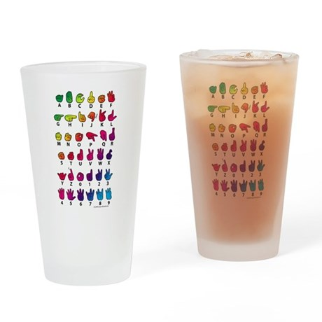 RBW Fingerspelled ABC Drinking Glass
