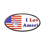 ILY America Flag Patches