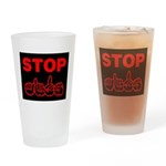 Stop AIDS Drinking Glass