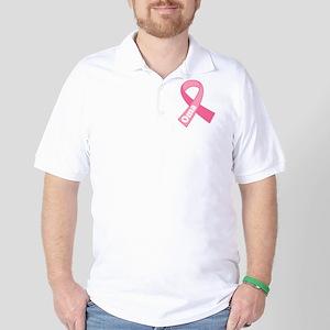 Oma Breast Cancer Pink Ribbon Golf Shirt