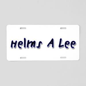 Helms a Lee Aluminum License Plate
