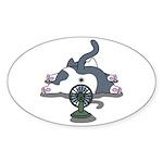 Setsuden cat 2 Sticker (Oval 50 pk)