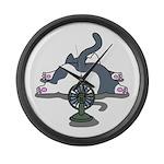 Setsuden cat 2 Large Wall Clock