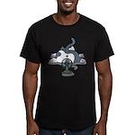 Setsuden cat 2 Men's Fitted T-Shirt (dark)