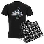 Setsuden cat 2 Men's Dark Pajamas