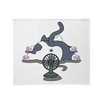 Setsuden cat 2 Throw Blanket