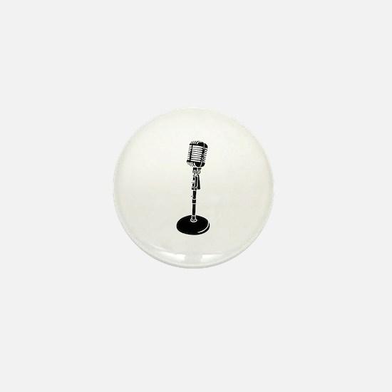 Cute Microphone Mini Button