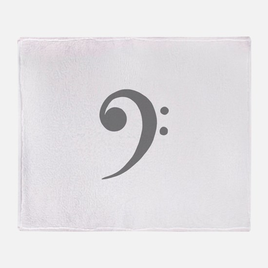 Cool Bass clef Throw Blanket