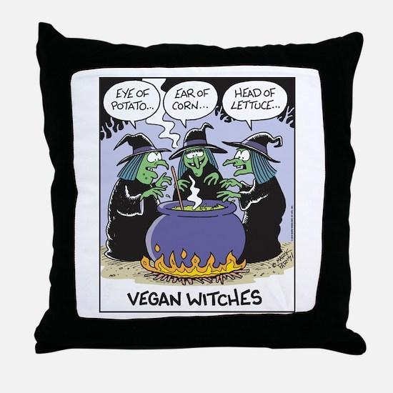 Vegan Witches Throw Pillow