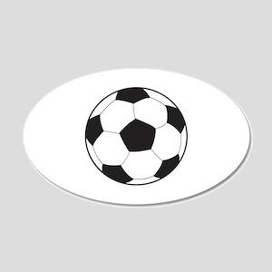 Soccer Ball 22x14 Oval Wall Peel