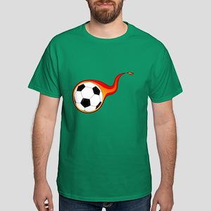 Burning Soccer Ball Dark T-Shirt