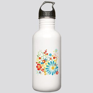Floral explosion of color Stainless Water Bottle 1