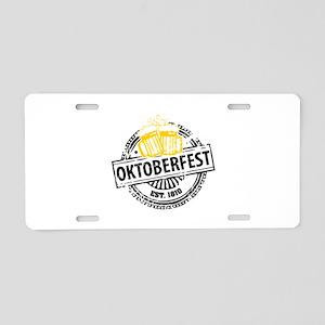 Oktoberfest Aluminum License Plate